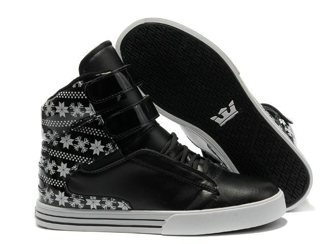 New Balance Shoes Cheap Hot - TK Society Mens High Top Black/Grey/Black/Leather Shoes The Supra Shoe
