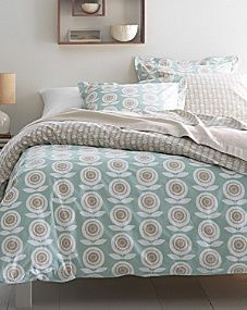 A Scandinavian-style floral motif celebrates scale and blooms with modern, soothing colors. This beautiful bedding is soft and comfy in 100% organic cotton.100% certified organic cotton200 thread countDuvet cover and sham feature the large-scale floral motif on a soft blue ground on front, with a small-scale floral motif on a linen ground on the backFlat sheet, fitted sheet, and cases feature the same small-scale floral motif pattern as the back of the duvet cover and shamDuvet cover has…