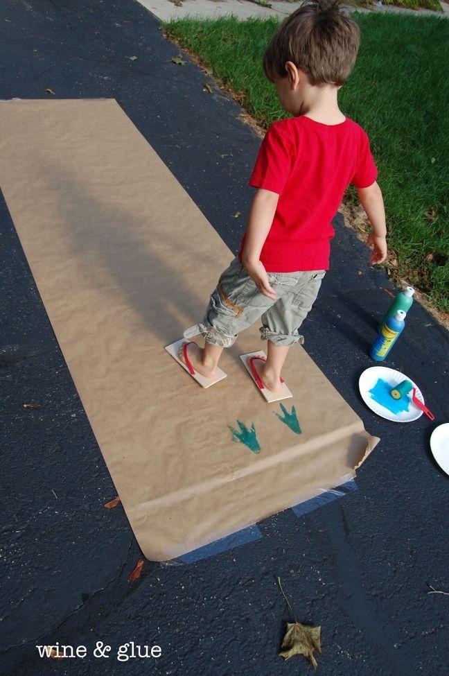 Dino Tracks Flip Flops Party Crafts For Kids