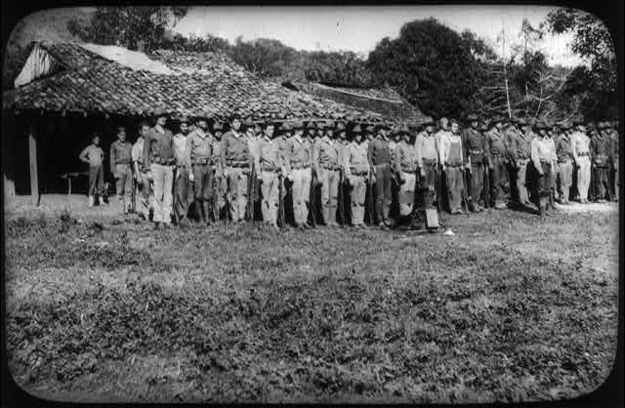 U.S. Marines-By 1934 all U.S. American forces were withdrawn from South American countries.  By removing military forces and letting them handle their own domestic disputes, the Latin Americans support for United States policy grew. This is a photo of U.S. Marines in Nicaragua.