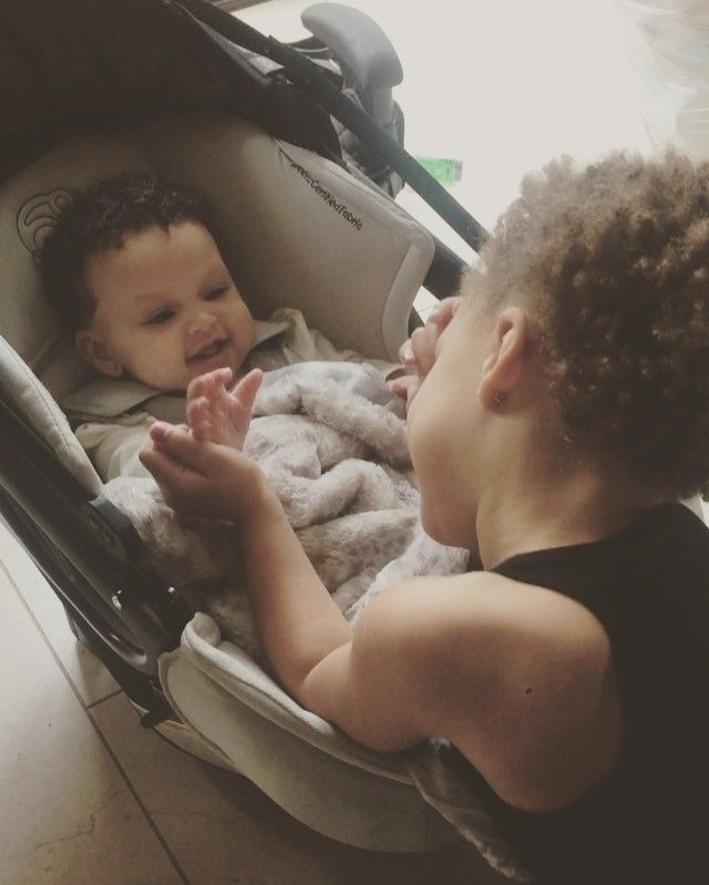 The sweetest video. Little Riley Curry singing good morning to her baby sister Ryan.