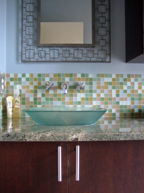 Perfect Here You Will Find Beautiful Bathroom Tile Backsplash Ideas For Your Home  Just A Band Of Tiles. Very Stylish Backsplash Part 17