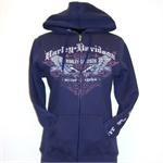 San Diego Harley-Davidson Women's Zipper Front Hooded Sweatshirt
