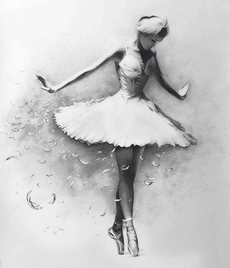 этих картинка балерина черно белая картинка нашем портале