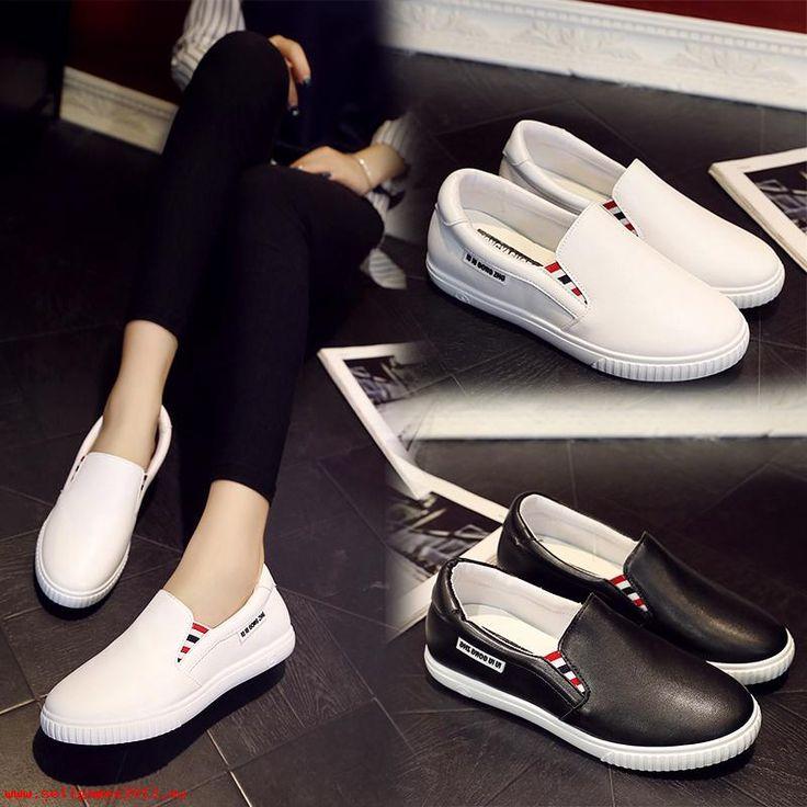 Αγόρασε Το φθινόπωρο του 2017 παπούτσια γυναίκες ψυχαγωγία τζόκερ σύνολο πόδι τεμπέληδες παπούτσια είναι λευκά παπούτσια κατ αποκοπή τους κλώτσησε την γυναίκα