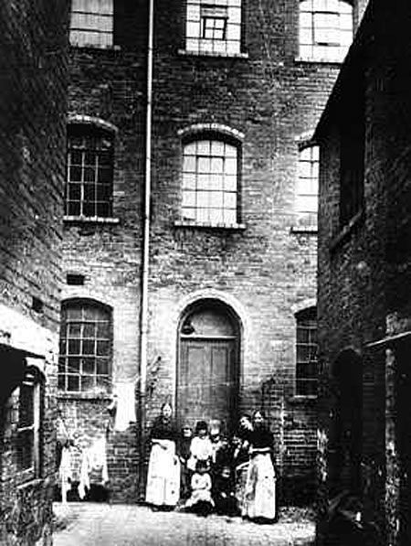 Photo showing Victorian slum housing