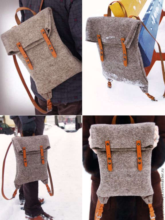 """Купить Рюкзак """"Симпатяга"""" - серый, однотонный, рюкзак, рюкзак ручной работы, рюкзак для девочки"""