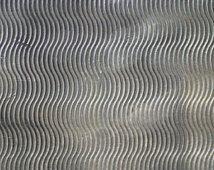 Níquel plata textura Metal hoja ondas modelo 20g - 6 x 2 1/4 pulgadas - pulseras colgantes de orfebrería