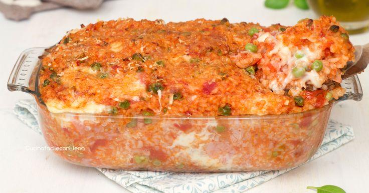 Il pasticcio di riso al forno è una ricetta davvero deliziosa molto semplice da preparare, è filante e saporito, irresistibile!