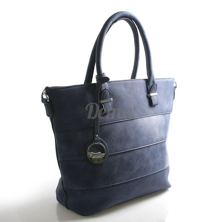 Modrá dámská kabelka přes rameno. Prostorná, vhodná pro každodenní nošení. Rzměry 40 x 29 x 15.