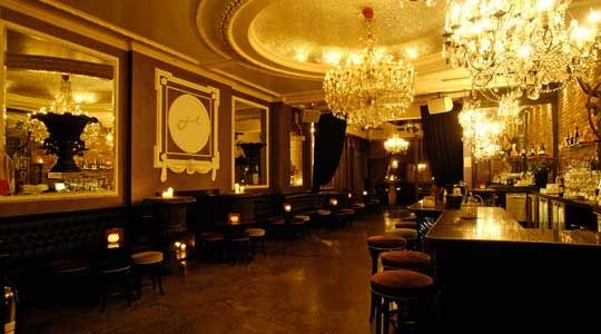 Jewel bar Leicester Square.  Opulent, good chandeliers, and good for an after work drink.  Never go after dark as too much of a queu.