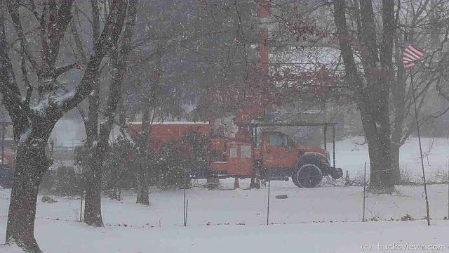 I guess Peco is serious about preventing power outages -  Bucksviews Blog - A blog for Bucks County Pennsylvania: Asplundh is tree trimming in the snowstorm for Pec...