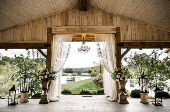 Mint Springs Farm, Nolensville, Tennessee. 45 minutes away from Nashville and you're in greener pastures. Everything you could wish for in a wedding venue is here at Mint Springs Farm, from reception barn to covered pavilion, all with sweeping views of the clear lake and rolling hills. Photo Credit: Mint Springs Farm