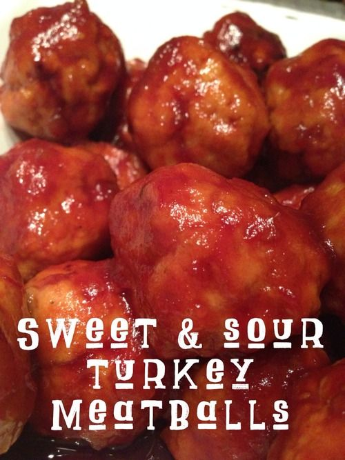 Here is the Recipe for my Sweet & Sour Turkey Meatballs. It's kind of a combination of a few different things I've seen and made and can be edited and tweaked however you want. It's super...
