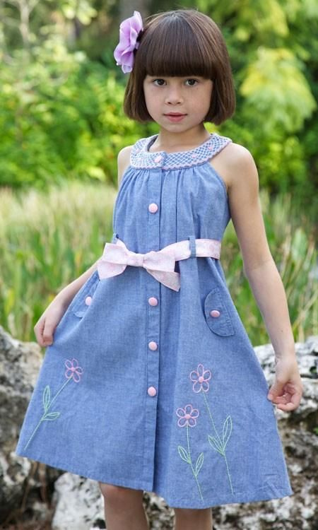 interesting smocked sundress...could be made from a shirt