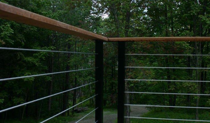 modern cabin: deck railing
