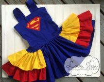 Superman Inspired Party Dress, Superhero Party Dress, Superhero Dress Up, Girls Superman Dress, Over The Top Birthday Dress, Superman outfit