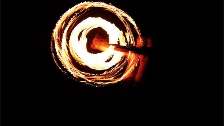The fire show is always a favorite at camp.
