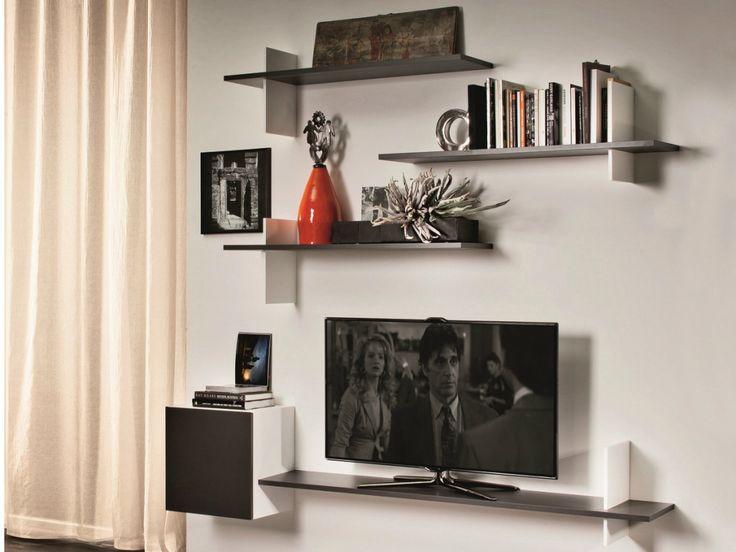 Best 25 tv wall shelves ideas on pinterest - Wooden tv wall shelf ...