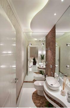 Mármore em lavabos e banheiros  – veja bancadas e pisos com diversos tipos de mármores!