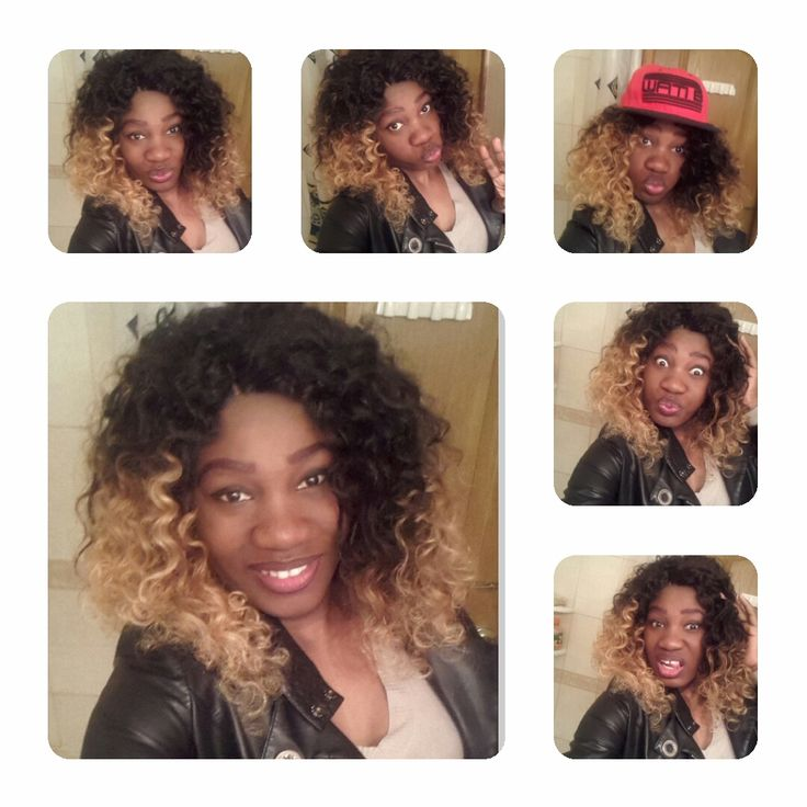 cute girl, ombre blonde culy hair #orangestarhair #ombre curly