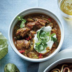 Colorado Green Chili | CookingLight.com #myplate #protein #veggies #grains