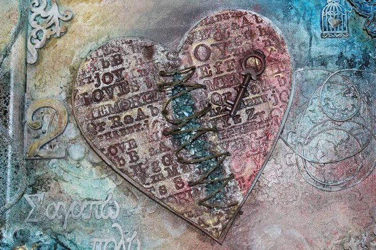 xeirokamoto.gr - Mixed-Media Κάδρο (Heal your Heart)-Σεμινάρια
