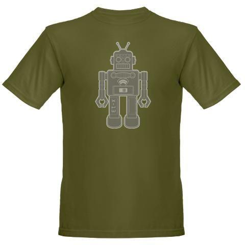 Robot Organic Men's T-Shirt (dark)