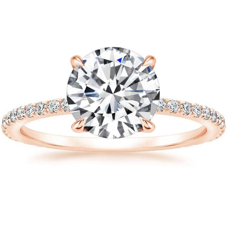 Demi Diamond Verlobungsring im Kissenschliff – 14 Karat Roségold (Einstellungspreis)
