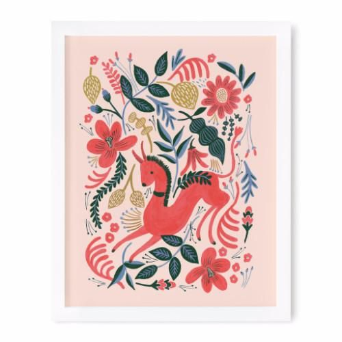 Ruby Folk Print 8x10 Art Print
