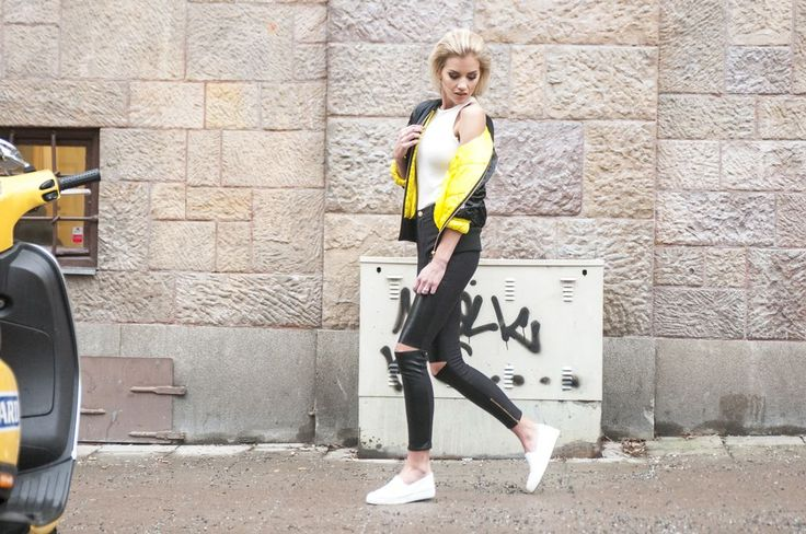 Ida Marie Isaksson in the Bomber Coco jacket
