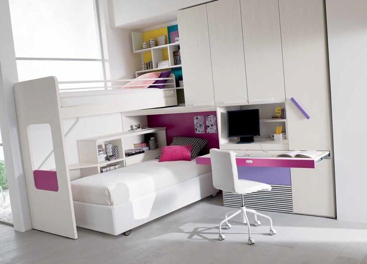 17 migliori idee su camere da letto a castello su pinterest camere con brande letti a - Camere da letto con libreria ...