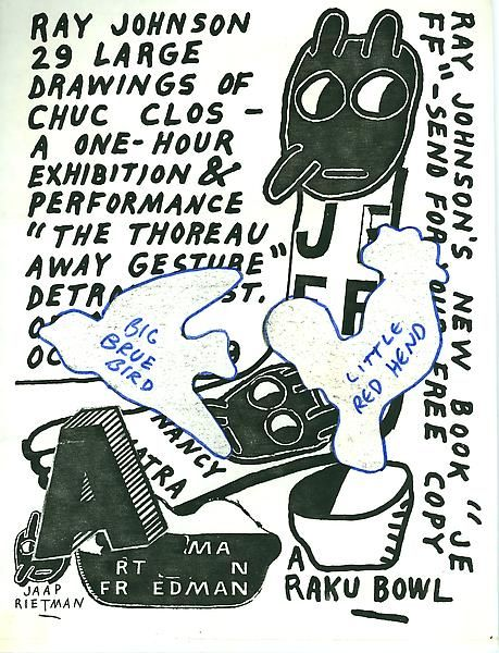 manystuff.org – Graphic Design, Art, Publishing, Curating… » Blog Archive » Ray Johnson Estate