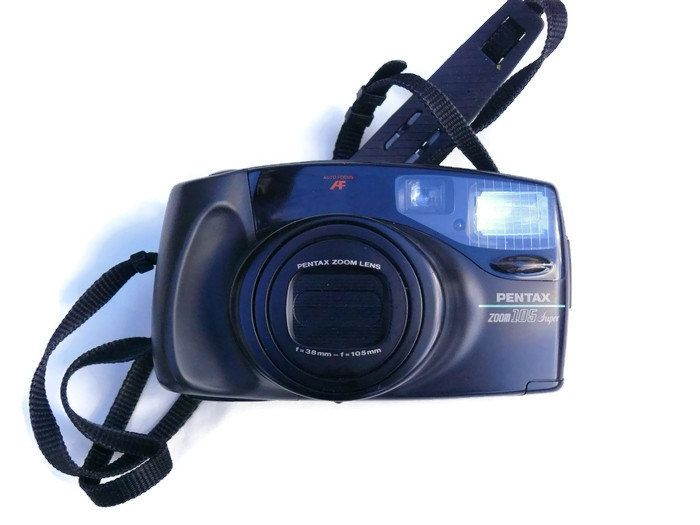 Pentax Zoom 105 Super, Vintage Camera, 35mm Camera, Pentax Camera, 35mm Film Camera, Vintage Pentax, Point And Shoot Camera by HarmlessBananasTribe on Etsy