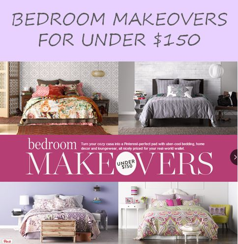 Bedroom makeovers for under $150! Budget-friendly ideas that will take your space from shabby to chic!