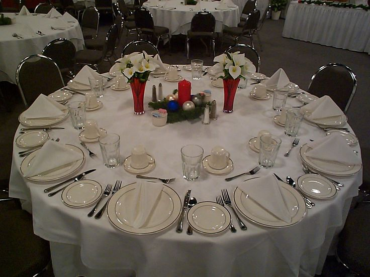 Best banquet table setting images on pinterest