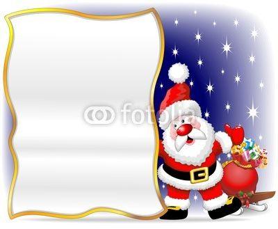 Vettoriale: Babbo Natale Auguri-Santa Claus Cartoon Poster Background
