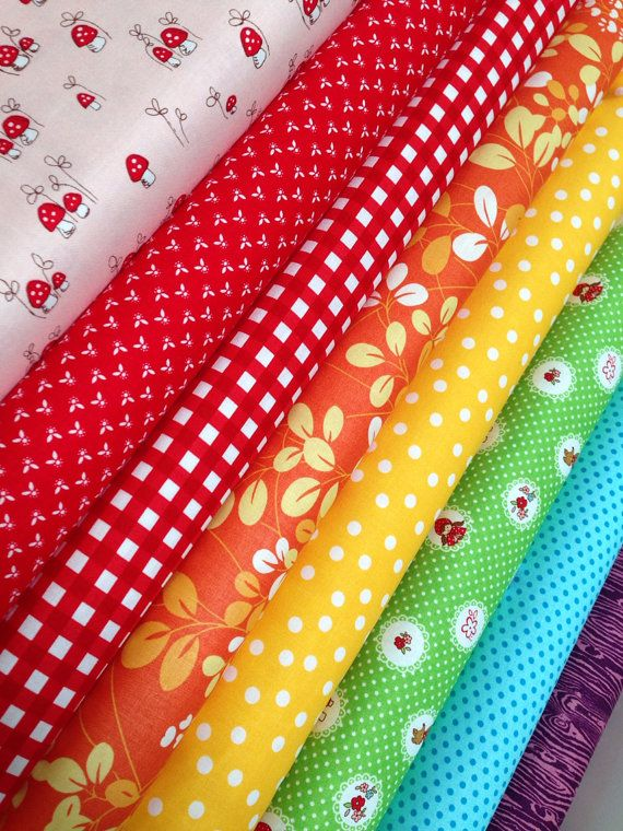 LIttle Red Riding Hood Picnic in the Woods Fabric by fabricshoppe, $24.00