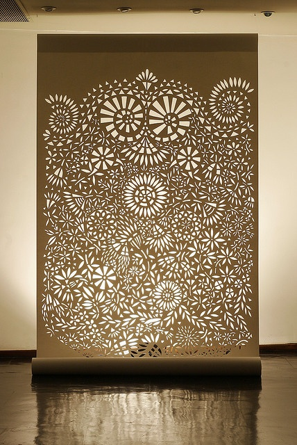 """Paper art by Analu Prestes """"At firs i straight draw on the paper after to make ready with varnish and i cut it by hand using a X-ACTO.This is like a meditation work!But I love to do it."""""""