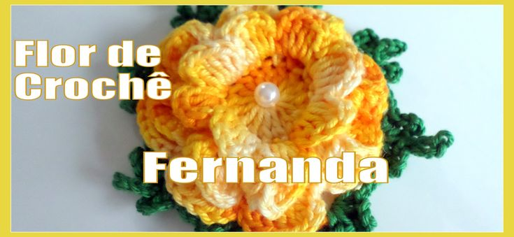 """Flor de Crochê - Fernanda """"Diandra Schmidt Rosa"""""""