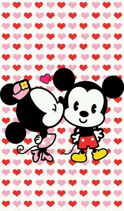 Image via We Heart It https://weheartit.com/entry/145188877/via/22479432 #cute #mickeymouse #minniemouse #wallpaper