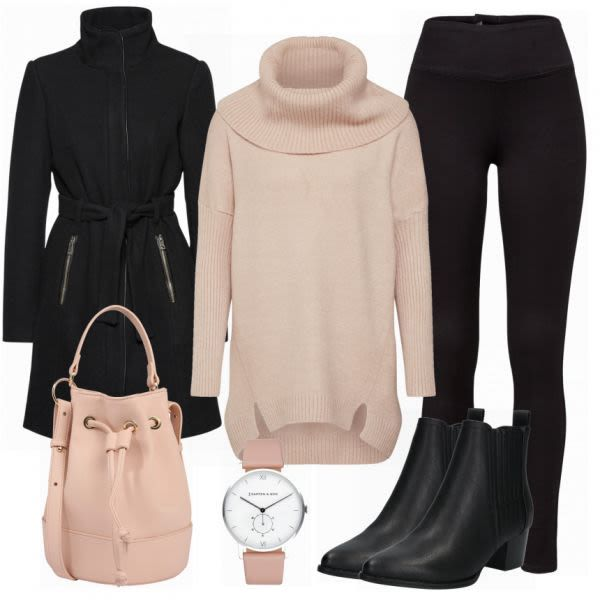 About You Jacken Damen Outfit Komplettes Winter Outfit
