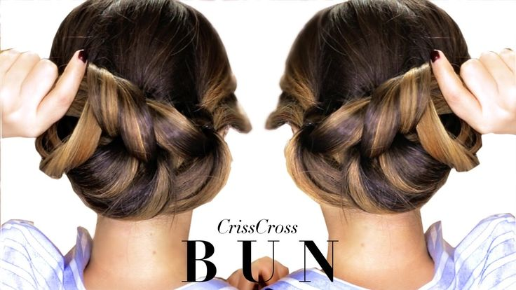 ★ 3-Minute Elegant BUN Hairstyle Every Girl DOESN'T ALREADY KNOW ★ Easy ...