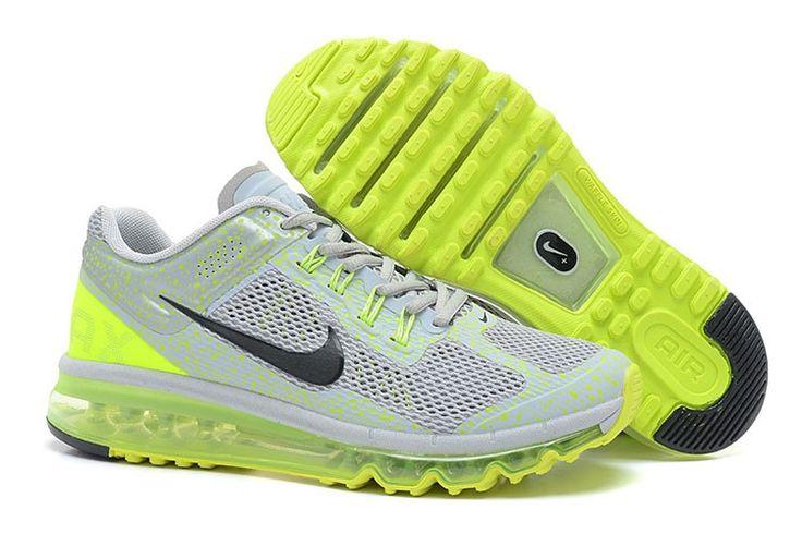 Nike Air Max 2013 CAMO Männerschuhe Grau Grün