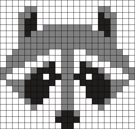 Mapache Perler Bead Pattern / Bead Sprite