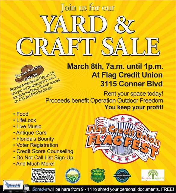 Unique Yard Sale Flyer Template Word in 2020   Flyer ...