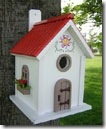 Birdhouse red roof