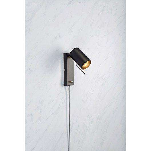 Applique, gu10 Carrie, 1 x 35 W, métal noir, MARKSLOJD