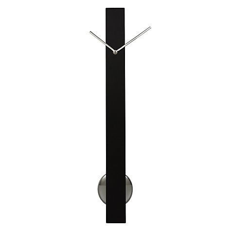 Buy John Lewis Sia Pendulum Clock, H65 x W6 x D6cm, Black Online at johnlewis.com