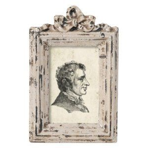 Antique Picture Frame with Bow Detail